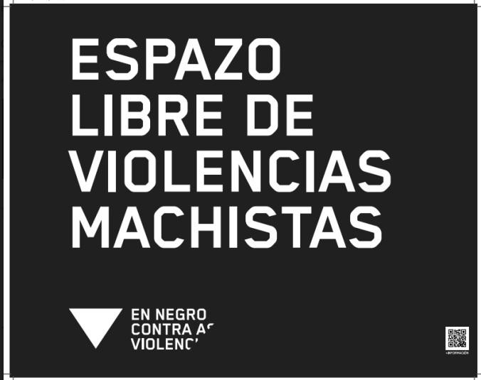 en negro contra a violencia de xénero